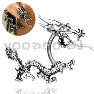 Curved Dragon with Tail