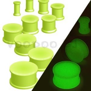 Glow in the Dark Silicone Flexible Double Flared Plug
