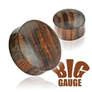 Solid Organic Sono Wood Saddle Plugs (Sizes from: 6mm upto 50mm)