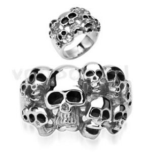 "316L Surgical Stainless Steel ""10 Skull"" Ring"
