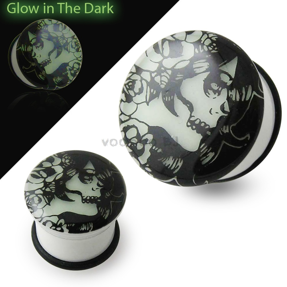 Glow In The Dark Evil Women Ear Plug