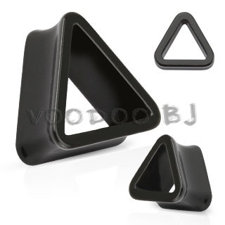 Triangle Tunnel Solid Acrylic Double Flared Plug
