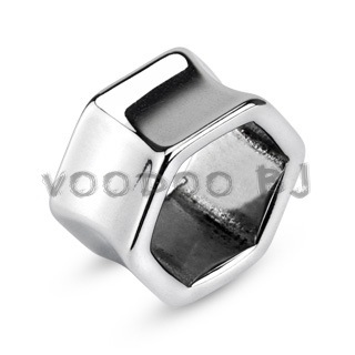 Hexagonal Tunnel Double Flared Plug 316L Surgical Steel