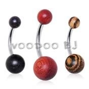Organic Wood Navel Ring