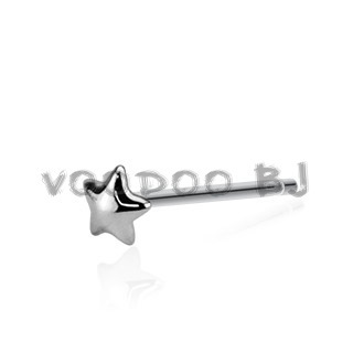 Dome Star 3mm Bendable Nose Ring 20GA .925 Sterling Silver