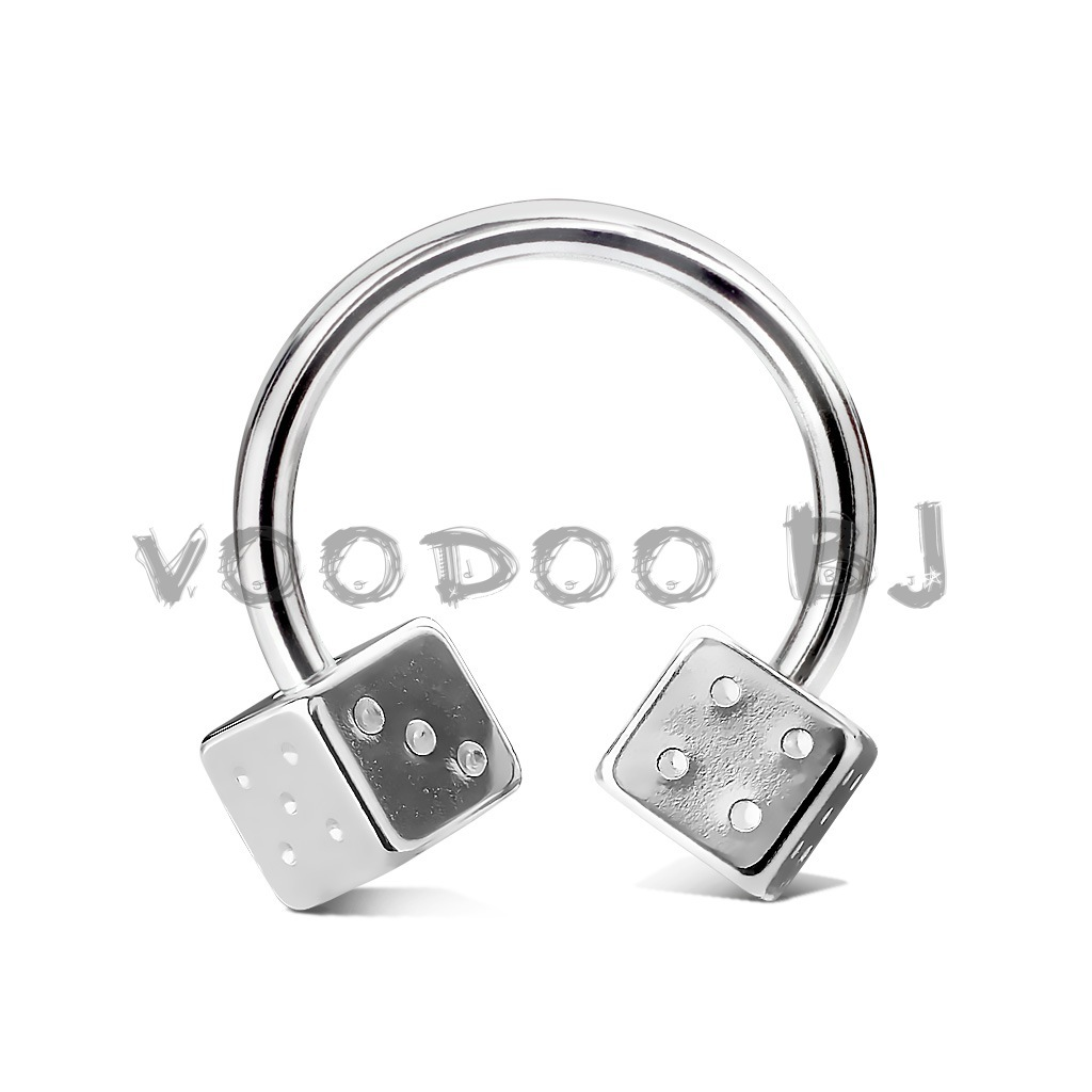 Steel Dices 316L Surgical Stainless Steel Circular Horseshoe